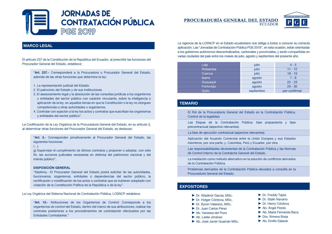 JORNADAS DE CAPACITACION PGE2019